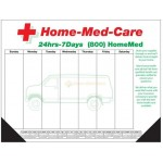 Custom Imprinted 25 Sheet Deluxe Desktop Pad w/ Bottom Calendar