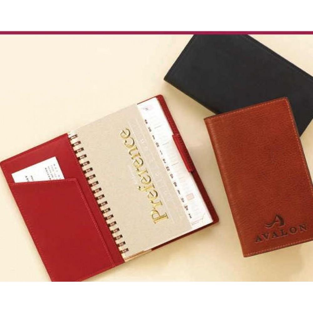 Custom Imprinted Aniline Glazed Calfskin Pocket Secretary