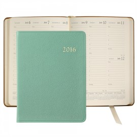 """Branded Brights Leather Desk Diary Datebook (7""""x9 1/4"""")"""