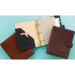 Business Leather Organizer W/ 3 Rings Custom Printed