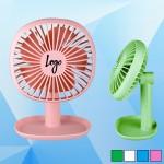Custom Imprinted Adjustable Fan with Desk Organizer