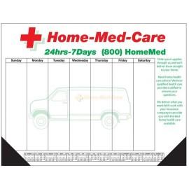 Custom Imprinted 50 Sheet Deluxe Desktop Pad w/ Bottom Calendar