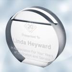 Branded Acrylic Circle Card Holder