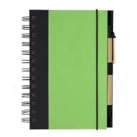 Eco-Inspired Spiral Notebook With Pen Logo Printed