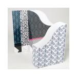 Custom Imprinted File Folder 24 piece Corrugated Paper Fashion Pattern (Case of 24)
