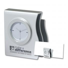 Logo Printed 2-in-1 Desk Clock and Organizer