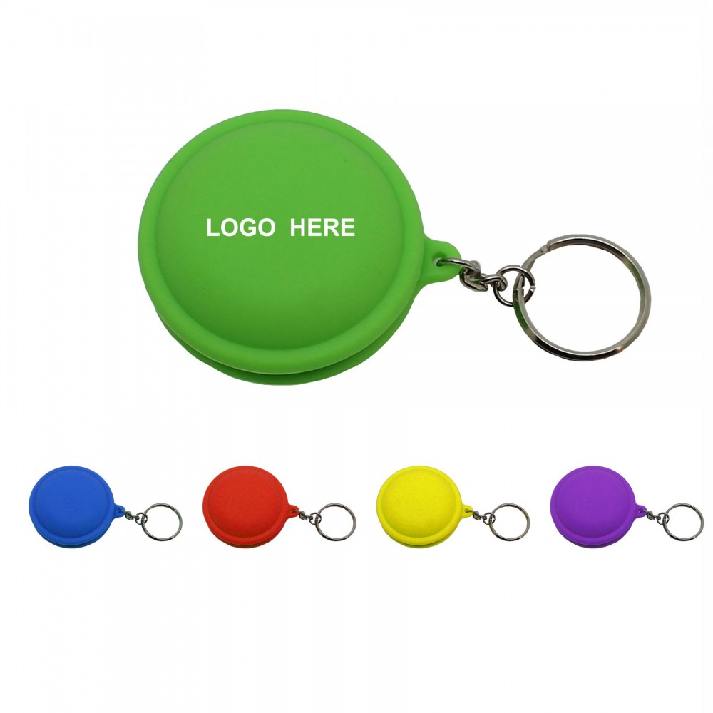 Branded Cord Organizer Earphone Wrap with Keychain