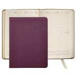 "Pebble Grain Leather Desk Diary Datebook (7""x9 1/4"") Logo Printed"