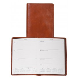 Custom Imprinted Italian Leather Desk Size Planner