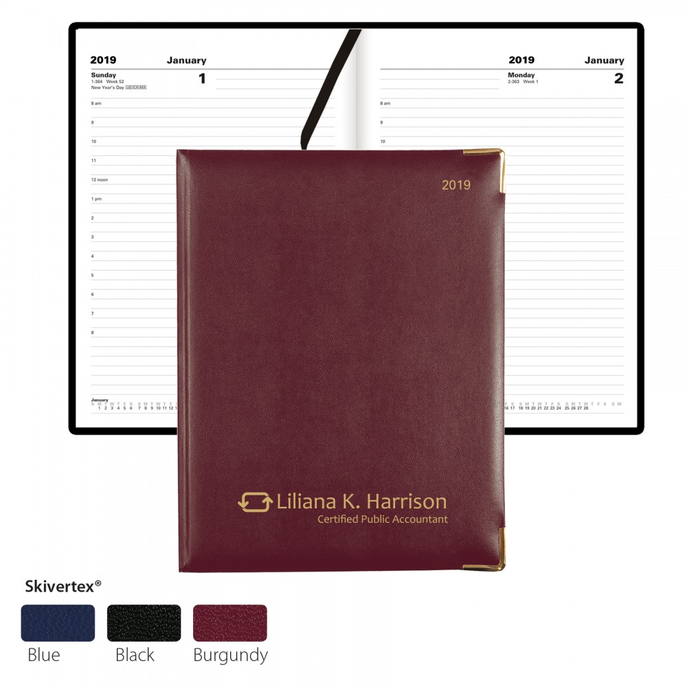Classic Desk Planner by Letts - Day-Per-Page Custom Imprinted
