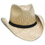 Seagrass Straw Cowboy Hat w/Wide Brim Logo Embroidered