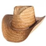 Straw Cowboy Hat w/Hatband Branded