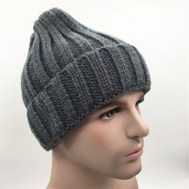 f1ac61d252a Acrylic knitted woollen Beanie hat with embroidered logo Custom Imprinted