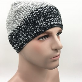 40eff4aa8ed Acrylic knitted Beanie hat with embroidered logo Custom Imprinted