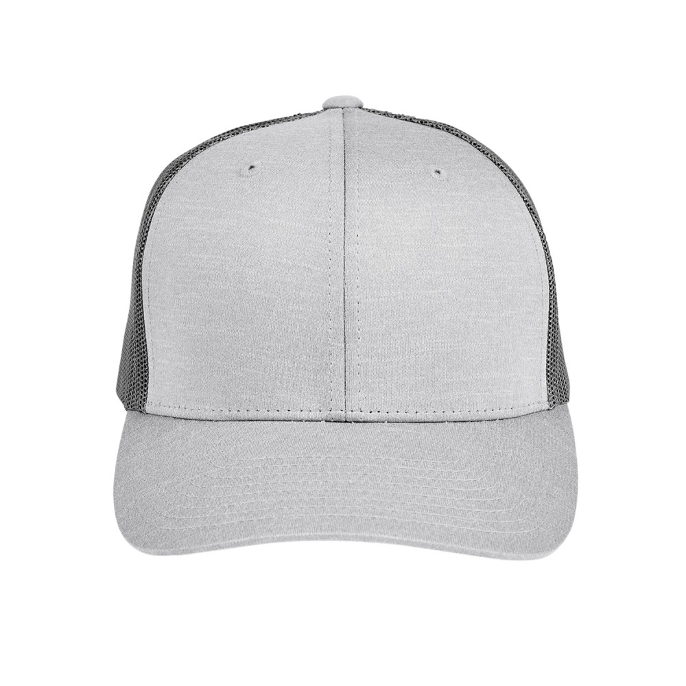 Team 365 by Yupoong Adult Zone Sonic Heather Trucker Cap Branded