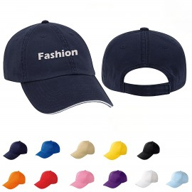 Washed Cotton Twill Cap Branded