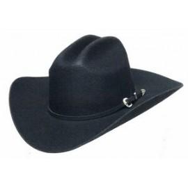 f93589fe4eac2 Black Genuine Wool Felt Western Hat Branded