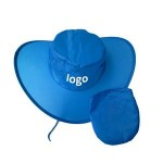 Logo Printed Polyester Collapsible Cowboy Hat with Pouch