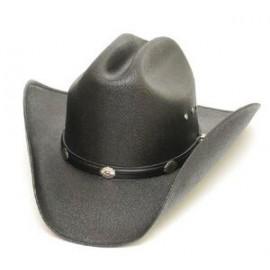 Adult /& Kids Black Faux Felt Cowboy Hat Concho Band