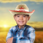 Customized Kid's Cowboy Hats with Imprintable Band