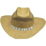 Lindu Straw Cowboy Hat with Hat Band Custom Imprinted