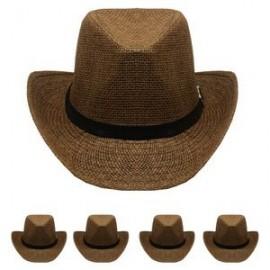 0dd5da8ebc1bc Brown Western Cowboy Hat Custom Imprinted
