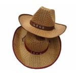 Logo Printed Straw Cowboy Hats