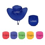 Logo Printed Foldable Hat With Pouch