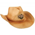 Embroiderable Straw Cowboy Hat w/ Braided Leather Band Logo Printed