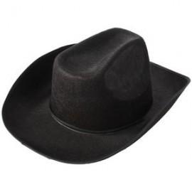 Black Felt Cowboy Hat Custom Imprinted