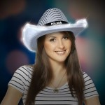 Personalized Sequin LED Cowboy Hat
