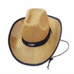 Custom Imprinted Unisex Cowboy Hat Straw Hat Wide Brim
