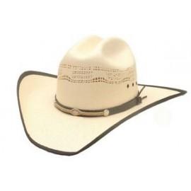 Bangora Western Hat / Leather & Rope Band Branded