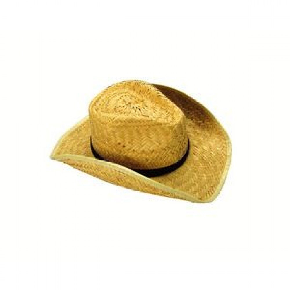 Branded Rolled Up Cowboy Hat