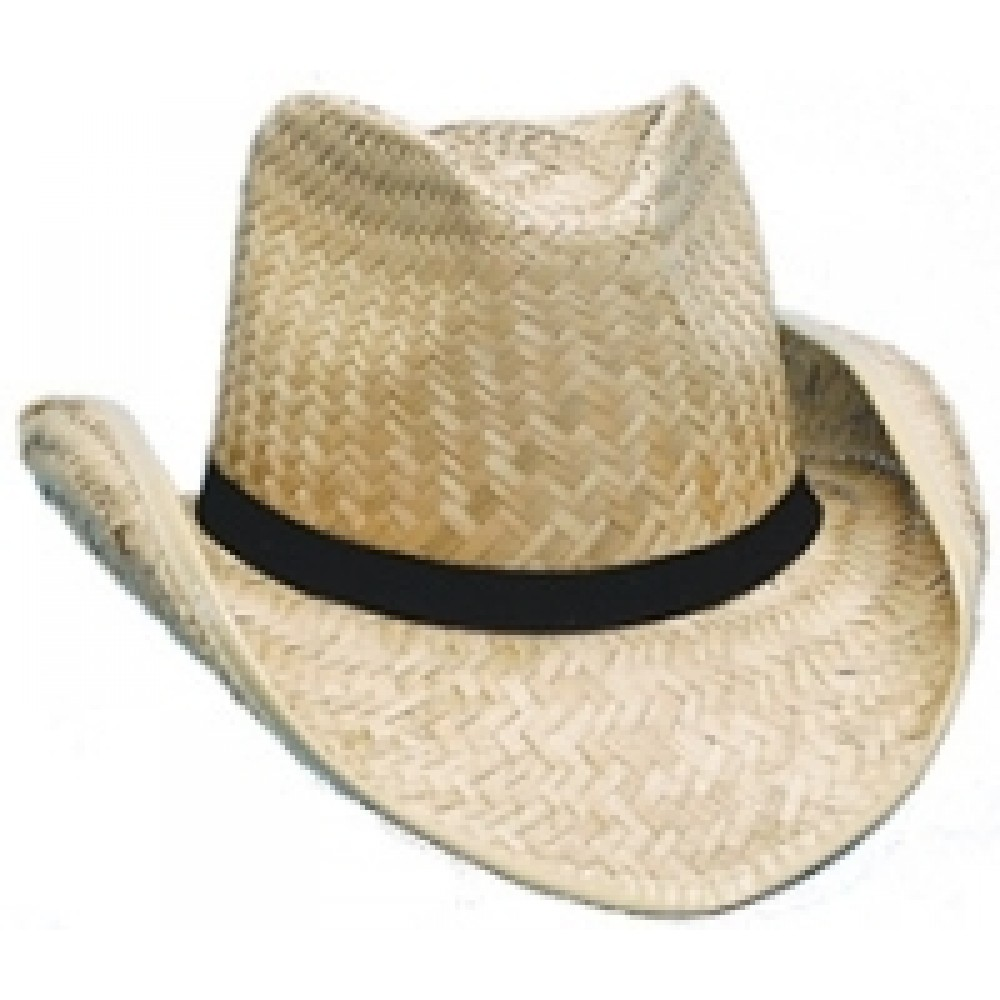 Branded Seagrass Straw Cowboy Hat