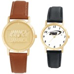 Budget Collection Watch w/Notches on Round Bezel Logo Printed