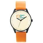 Pedre Zone Unisex Watch (Brown Calfskin Strap) Custom Imprinted