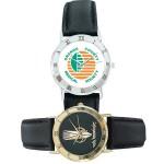 Logo Printed Budget Collection Watch w/Roman Numerals on Round Bezel