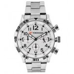 Branded Men's Chronograph Bracelet Watch W/ Silver Dial