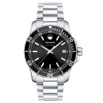 Movado Series 800 Men's Stainless Steel Bracelet Sport Watch W/ Black Dial from Pedre Custom Imprinted
