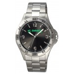 Logo Printed Men's Silver Contender Watch