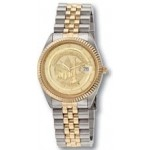 Selco Geneve Men Commander Medallion Two Tone Watch Custom Imprinted