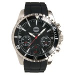 Men's Chronograph Sport Watch W/ Black Dial Logo Printed