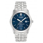 Logo Printed Citizen from Pedre Men's Corso Stainless Steel Bracelet Watch with Blue Dial