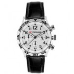 Men's Chronograph Leather Strap Watch Branded