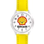 Custom Imprinted Unisex Yellow Leather Band Watch