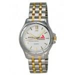 Custom Imprinted Men's Encore 2 Tone Japanese Quartz Watch w/ Matching Bracelet