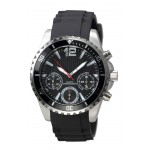 Men's Black and Silver Orbit Watch Logo Printed