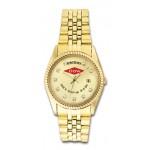 Pedre Men's 5th Avenue Gold-Tone Metal Watch W/ Swarovski Crystals Branded