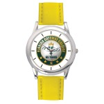 Men's Yellow Leather Strap Watch Branded